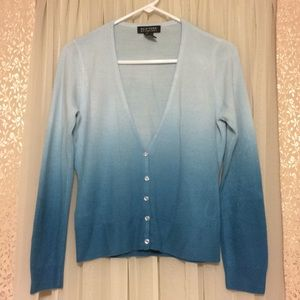 New York & Company blue ombre cardigan small